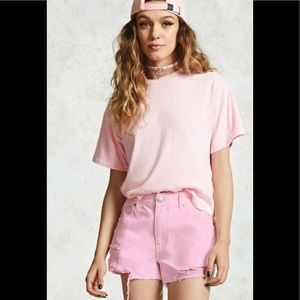 Forever 21 pink midi shorts- 30